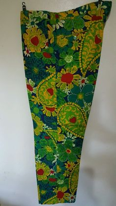 NWOT Vintage Floral Mens Wallachs Golf Pants Tailored By Seven Seas #wallachs #WeekendGolf