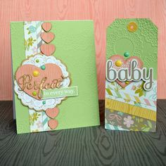 Baby card and tag set. : Gallery : A Cherry On Top