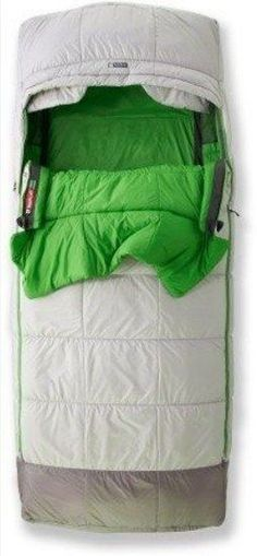 This roomy sleeping bag that has a comforter and fitted sleeve for your sleeping pad: