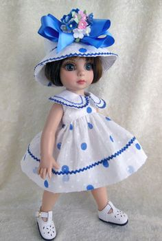 Dress Hat Fit Tonner Patsy Ann Estelle 10 Little Charmers Doll Designs | eBay