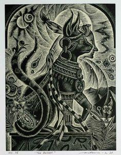 Bastet....for trish.  Egyptian cat goddess. For protection. Egyptian mythology