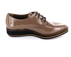 Maypol - Klassische Damen Schnürer mit spitzer Leistenform Dandy Look, Steampunk, Beige, Sneakers, Shoes, Fashion, Androgynous, Classic, Women's