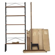 New in Box Poul Cadovius Royal Shelving System | From a unique collection of antique and modern shelves at https://www.1stdibs.com/furniture/storage-case-pieces/shelves/