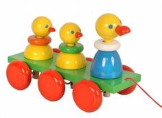 Petra Wooden Marching Ducks Pull Toy