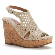 ec5ee80db543 A woven design gives you chic style in these Mudd platform wedge sandals.