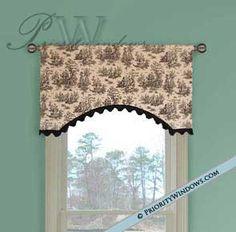 "Simple Parisian Valance 35 to 48"" Wide - Curtains | Window Valances | Custom Drapes | Window Treatments | Fabric Shades | Bedding"