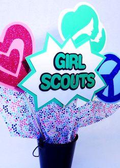Girl Scout Centerpiece Set Girl Scout by FunburstPartyandGift