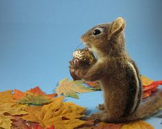 Felted Chipmunk