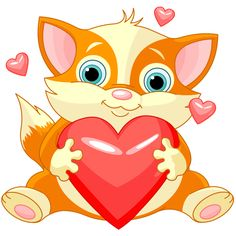 Cat with Big Heart