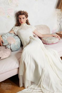 miamia wedding dresses spring 2013 edelweiss gown with short sleeves