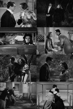 Katharine Hepburn and Cary Grant in Bringing Up Baby (1938)