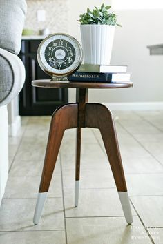 Modern DIY End Table Side Table Table plans Tutorials and Modern