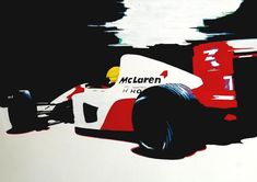 Acrylic painting, McLaren Honda MP4/7