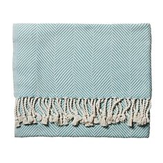 love love this herringbone throw from serena and lily