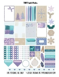 My Planner Envy: Pastel Winter Sampler - Free Planner Printable