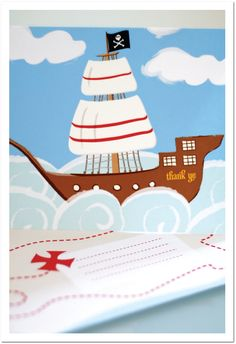 Free pirate party printables- invitations, mini cupcake wrappers/toppers, thank you cards, pirate hats, etc.