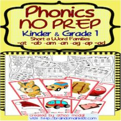 Phonics NO PREP: Short /a/ Word Families is a time saver for teachers and is great for Common Core Practice to decode seven Short Vowel /a/ Word Families. It includes 7 worksheets and 7 colorful adorable Anchor Charts. The CVC words are color coded for easy recognition of onset and rhyme.Each worksheet includes: -Cross the CVC word for each word family - Colour the Picture for each word family - Trace the CVC words for each word family - Count and Write the number of words for each word…
