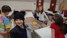 kids designing sets for spring 2019