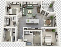 Small House Layout, Small House Design, Small House Plans, House Layouts, Apartment Floor Plans, Bedroom Floor Plans, House Floor Plans, Apartment Layout, Apartment Interior Design