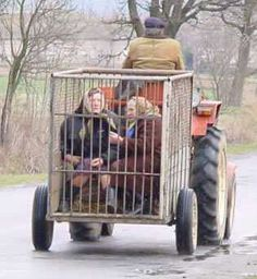 Derbyshire Farmers Clone Old People ---  tractor and old ladies