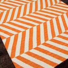 Graphic orange rug