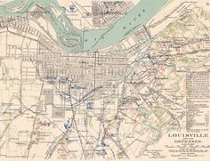Old Map of Louisville Ky