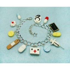 Nursing, bracelets,pulsera,fimo,enfermeria,