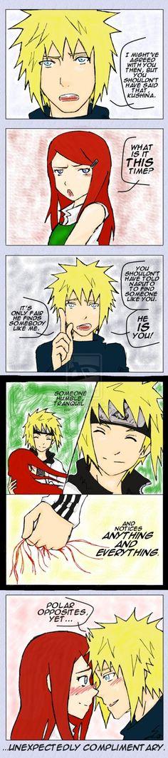 Minato and Kushina from Naruto. Unexpectedly Complimentary by SchiraYuki And hinata just like minato