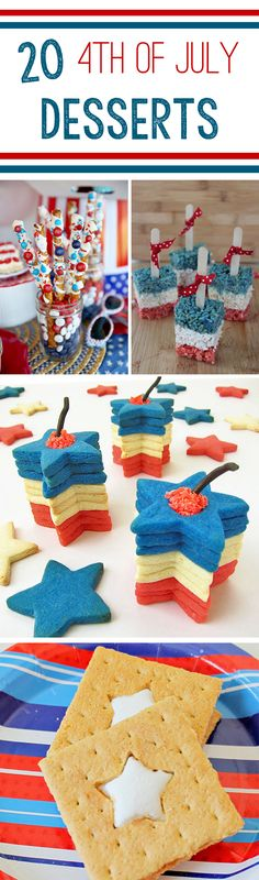 20 {4th of July} Desserts