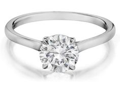 Check out this stunning Henri Daussi diamond solitaire engagement ring, available in your choice of metals!!