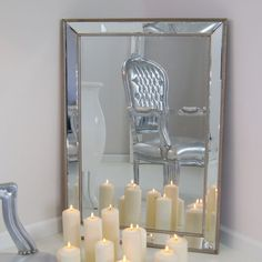 Lustro w lustrzanej ramie, szlifowane fazą.   Kolory \ Srebrny Meble \ Lustra Style Serie \ Styl barokowy Style Serie \ Styl romantyczny Wszystkie produkty   Impresje24.pl