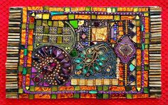 Tapestry Mosaic from Laurel Skyes Class (10 x 6) by Doreen Bell Mosaic, via Flickr