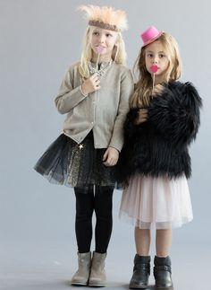 Atsuyo et Akiko Sequin Warp Skirt - Gold - Hello Alyss - Designer Children's Fashion Boutique