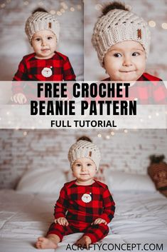 Learn how to crochet this adorable baby beanie- It works up super fast and the pattern includes 5 sizes! für Babymützen How To Crochet A Simple Baby Beanie Crochet For Kids, Free Crochet, Knit Crochet, Crochet Hats, Beginner Crochet, Crochet Baby Beanie, Crochet Beanie Pattern, Crochet Patterns, Single Crochet Stitch