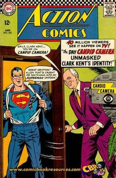Action Comics #345 - The Day Candid Camera Unmasked Superman's Identity! / The Exile of Steel (Issue)