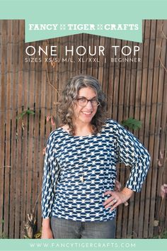 One Hour Top: Free Sewing Pattern! | Fancy Tiger Crafts size XS-XXL