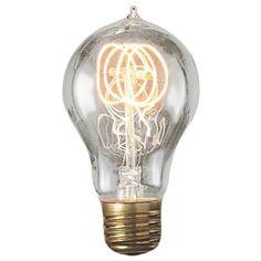 60 Watt A21 Vintage Loop Edison Bulb - Smoke