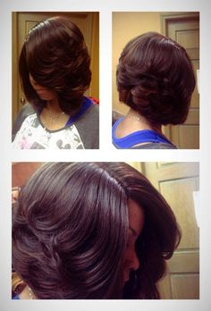 I love this layered bob look, but I could never cut my hair this short