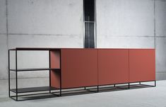 Interstar Frame Sideboard 10 different wood styles. 20 different colors. With grips or without. The choice is yours. Funny Furniture, Modern Furniture, Home Furniture, Furniture Design, Espace Design, Sideboard Furniture, Tv Cabinets, Buffets, Beautiful Interiors