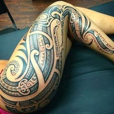 Maori Tattoos, Irezumi Tattoos, Maori Tattoo Meanings, Polynesian Tribal Tattoos, Marquesan Tattoos, Samoan Tattoo, Body Art Tattoos, Sleeve Tattoos, Tribal Hip Tattoos