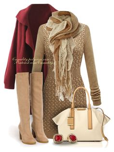 Sweater Dress & Boots by casuality on Polyvore featuring Nly Shoes, Michael Kors, Anne Klein, Linea and Trilogy