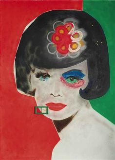 Martial Raysse, L'année dernière à Capri (titre exotique), 1962