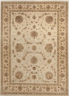 """Hand-Knotted Earth Tone Rug - 9'10""""x 13'10"""" on Chairish.com"""