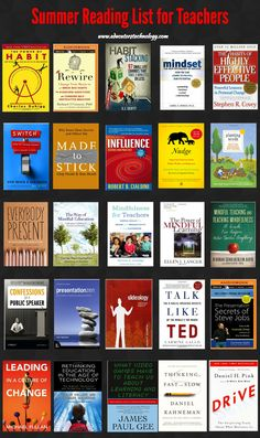 A Great Summer Reading List for Teachers ~ Educational Technology and Mobile Learning