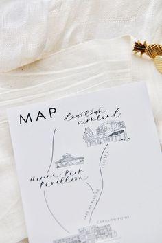 Wedding invitation map
