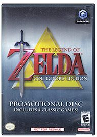 Play four classic Nintendo games with the Legend of Zelda: Collectors Disc.  This disc has 4 amazing Zelda games including The Legend of Zelda, Zelda II, The Legend of Zelda: Ocarina of Time and The Legend of Zelda: Majora's Mask.