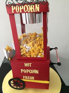 Carnival Popcorn cart part of the Join the Line by PattyPapercuts