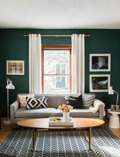 Modern Living Room Paint Ideas New Living Room Color Design Also Modern Colors Ideas Small Living Rooms, Living Room Green, Curtains Living Room, Living Room Paint, Living Room Scandinavian, Trendy Living Rooms, Living Room Grey, Living Decor, Scandinavian Design Living Room