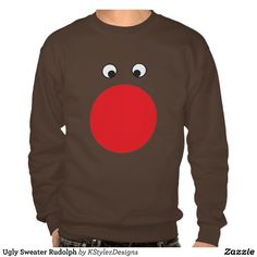 Ugly Sweater Rudolph Pullover Sweatshirt