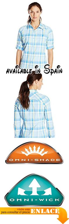 B00L2EJ91O : Columbia Silver Ridge Plaid Long Sleeve Shirt - Blusa para mujer color azul talla S. Tejido Omni-Wick. Protección solar Omni-Shade UPF 40. Bolsillo con cremallera en el pecho #Zapatos #SHIRT